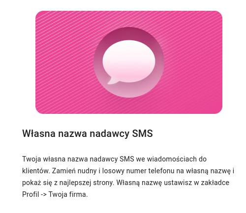 Własna nazwa nadawcy SMS - pakiet dodatkowy